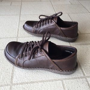 Women's Born Brown Leather Lace Oxford Shoes S 7.5